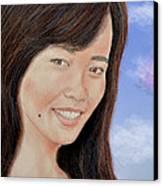 Portrait Of A Filipina Beauty Canvas Print by Jim Fitzpatrick