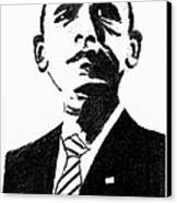 President Barack Obama Canvas Print by Ashok Naraian