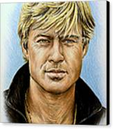 Robert Redford Canvas Print by Andrew Read