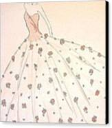 Rose Ball Gown   Canvas Print by Christine Corretti