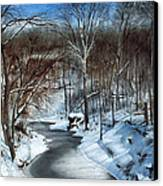 Same Creek Different Place Canvas Print by Denny Dowdy
