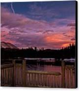 Sawmill Lake Sunset Canvas Print by Michael J Bauer