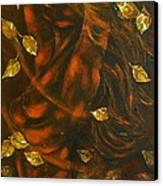 She...autumn Canvas Print by Elena  Constantinescu
