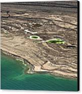 Sinkholes In Northern Dead Sea Area Canvas Print by Ofir Ben Tov