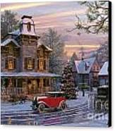 Snow Streets Canvas Print