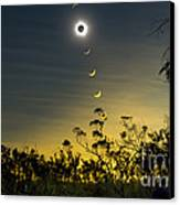 Solar Eclipse Composite, Queensland Canvas Print by Philip Hart