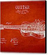 Stratton Guitar Patent Drawing From 1893 Canvas Print by Aged Pixel
