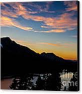 Sunset On Angora Ridge Canvas Print by Mitch Shindelbower