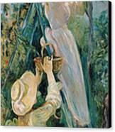 The Cherry Picker  Canvas Print by Berthe Morisot