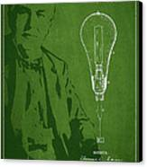 Thomas Edison Incandescent Lamp Patent Drawing From 1890 Canvas Print