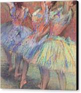 Three Dancers Canvas Print by Edgar Degas