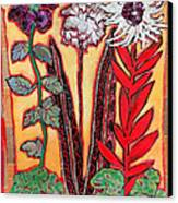 Three Flowers Canvas Print by Diane Fine