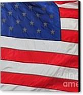 Us Flag On Memorial Day Canvas Print by Robert D  Brozek