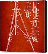 Vintage Tripod Patent Drawing From 1941 Canvas Print by Aged Pixel