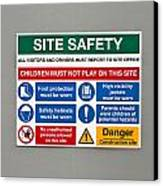 Warning Sign Canvas Print by Tom Gowanlock