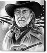 Willie Nelson American Legend Canvas Print