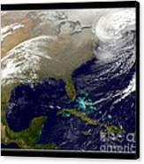 2013 Blizzard In Northeast Nasa Canvas Print