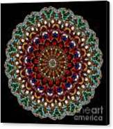 Kaleidoscope Stained Glass Window Series Canvas Print by Amy Cicconi