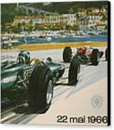 24th Monaco Grand Prix 1966 Canvas Print