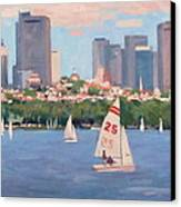 25 On The Charles Canvas Print
