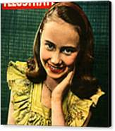 1950s Uk Illustrated Magazine Cover Canvas Print