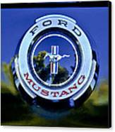 1965 Shelby Prototype Ford Mustang Emblem Canvas Print by Jill Reger