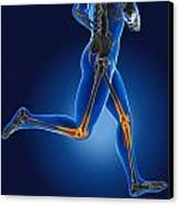 3d Running Medical Man Canvas Print by Kirsty Pargeter