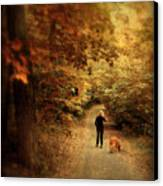 Autumn Stroll Canvas Print by Jessica Jenney