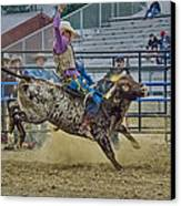 Bareback Bronc Riding Canvas Print