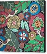 3 Bird Botanical Canvas Print