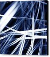 Blue Lines  Canvas Print by Les Cunliffe