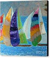 Boats At Sunset 1 Canvas Print