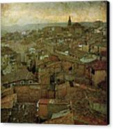 Calahorra Roofs From The Bell Tower Of Saint Andrew Church Canvas Print by RicardMN Photography