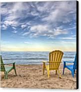 3 Chairs Canvas Print
