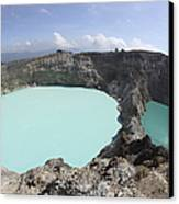 Colourful Crater Lakes Of Kelimutu Canvas Print by Richard Roscoe