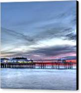 Cromer Pier At Sunrise On English Coast Canvas Print by Fizzy Image