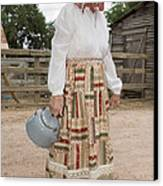 Farm Woman  Canvas Print by Jim Pruitt