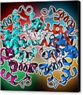 Haemoglobin Molecule Canvas Print by Science Photo Library