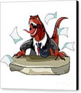 Illustration Of A Tyrannosaurus Rex Canvas Print by Stocktrek Images