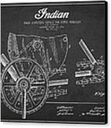 Indian Motorcycle Patent From 1902 Canvas Print by Aged Pixel