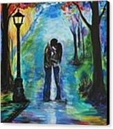 Moonlight Kiss Canvas Print by Leslie Allen
