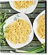 Noodles Canvas Print by Tom Gowanlock