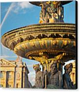 Paris Fountain Canvas Print