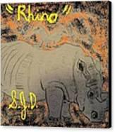 Rhino Canvas Print by Joe Dillon