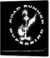 Road Runner Superbird Emblem Canvas Print by Jill Reger