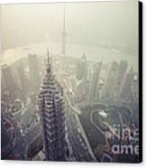 Shanghai Pudong Skyline Canvas Print by Fototrav Print