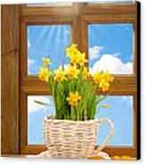 Spring Window Canvas Print by Amanda Elwell
