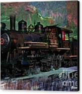 Steam Locomotive Canvas Print by Gunter Nezhoda