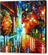 Street Of Hope Canvas Print by Leonid Afremov