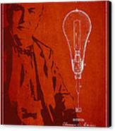 Thomas Edison Incandescent Lamp Patent Drawing From 1890 Canvas Print by Aged Pixel